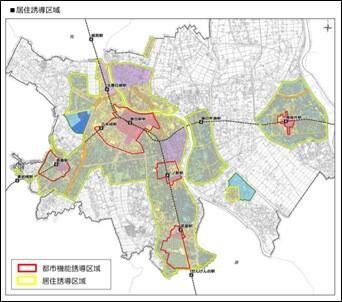 居住誘導区域(春日部市立地適正化計画)