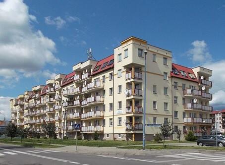 Obroncow Westerplatte Street in Augustow