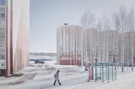 トムスク(シベリア西部)のマンション