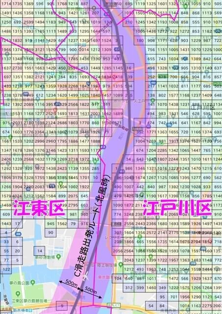 羽田新ルートは江東・江戸川区の荒川沿いを北上する