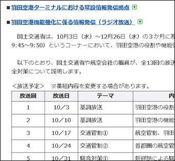 羽田空港機能強化に係る情報発信(ラジオ放送)