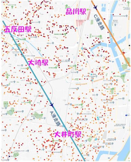 18年11月4日現在のLIFULL HOME'Sプライスマップ