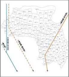 板橋区の町丁目レベルの行政境界マップ