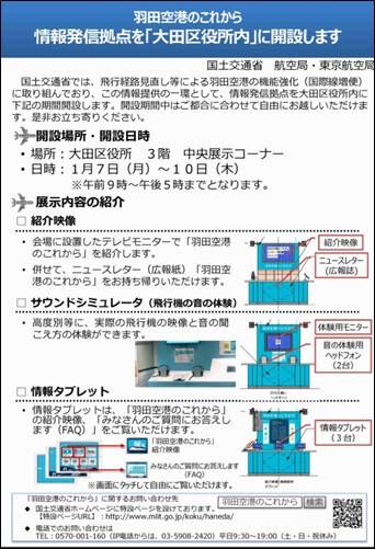 羽田空港機能強化に関する展示について