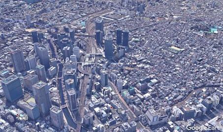 高度400mからの大崎駅周辺写真