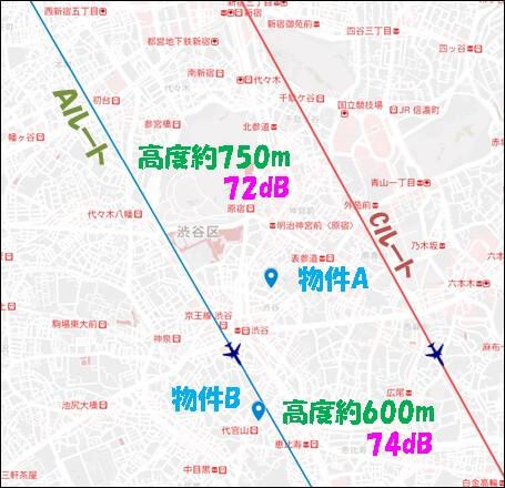 羽田新ルート近くの中古タワマン配置