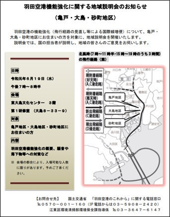 羽田空港機能強化に関する地域説明会のお知らせ