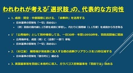 「都心低空飛行問題シンポジウム実行委員会」が8月8日の記者会見で掲げた代替案