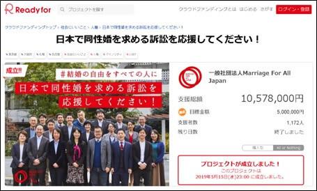 日本で同性婚を求める訴訟