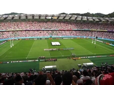 試合開始前の国歌斉唱