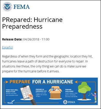 「PRepared: Hurricane Preparedness」(ハリケーンへの準備)