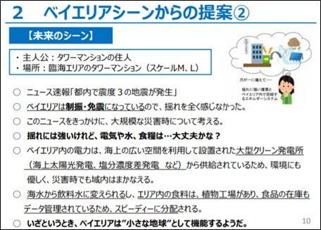 タワーマンションの住⼈を主人公とした「未来のシーン」/東京ベイエリアビジョン」(仮称)