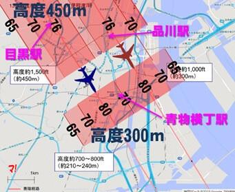 品川駅周辺の騒音レベル