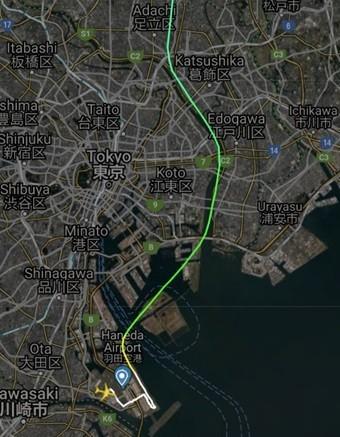 3月29日15:47羽田発デルタ便(DL8)