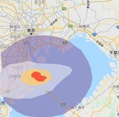 UFP(超微小粒子)分布を羽田空港周辺