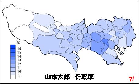 山本太郎 得票率