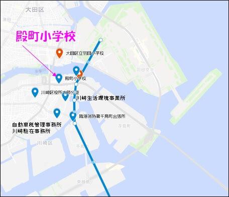 神奈川県の騒音測定局の位置