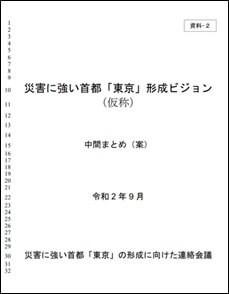 資料2 災害に強い首都「東京」形成ビジョン(仮称) 中間まとめ(案)