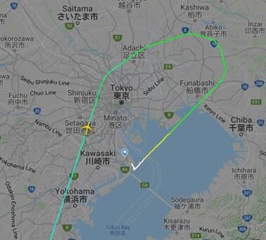 世田谷上空を通過する事案