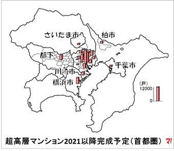 超高層マンション2021以降完成予定(首都圏)