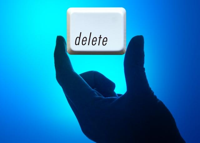 削除するボタン