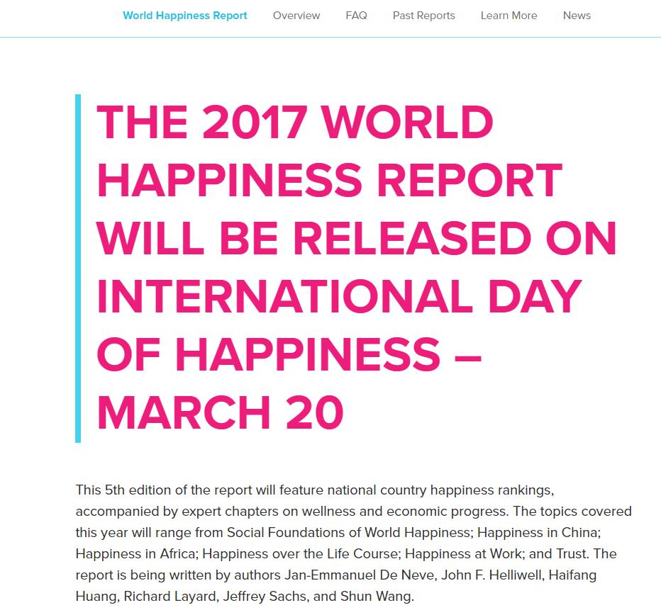 世界幸福度調査書