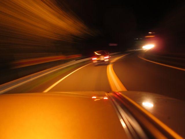 夜中のドライブ。