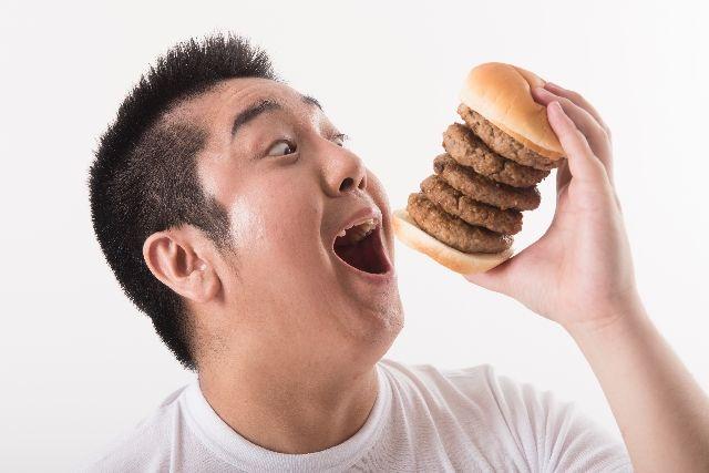 肥満体型。