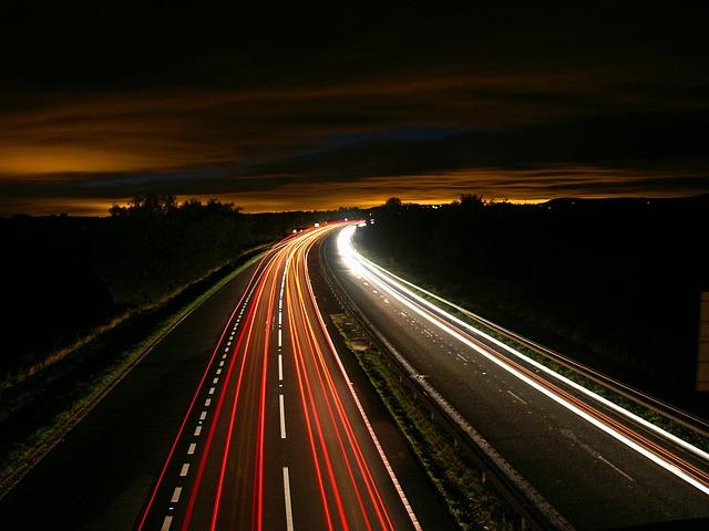 真夜中のドライブ。