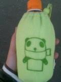 生茶パンダのフリース製ペットボトルケース