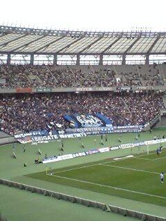 2006/10/22 FC東京対ガンバ大阪 試合前のガンバ側ゴール裏