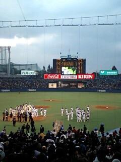 2006/11/4 東京ヤクルト対東京六大学選抜@神宮球場 試合終了直後