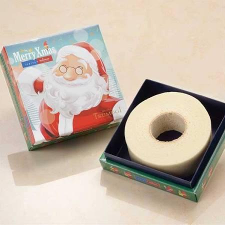 石屋製菓白いバームクーヘンクリスマスパッケージの写真