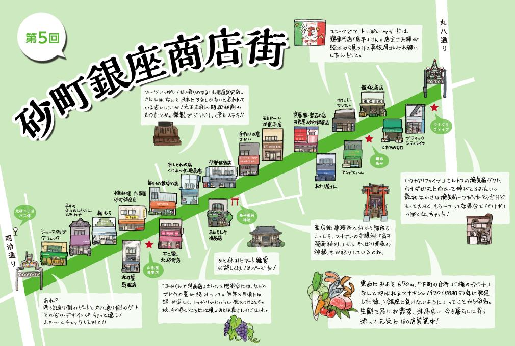 ことみせサイトに掲載されている砂町銀座商店街のイラストマップ