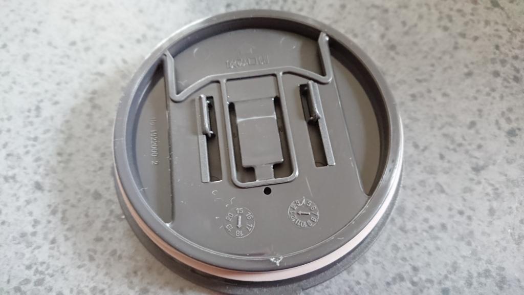 保温マグカップのフタの裏側の写真