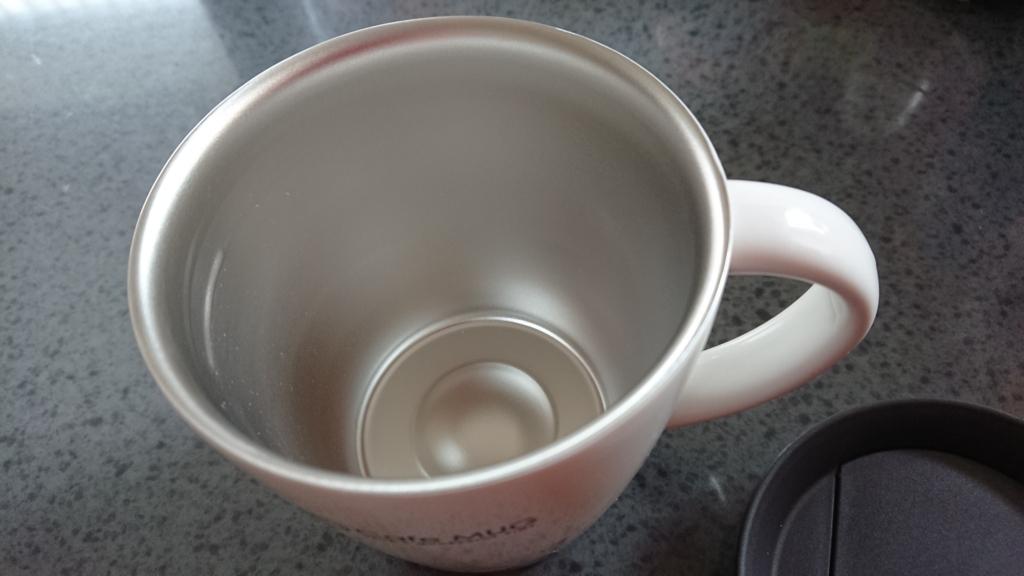 保温マグカップのフタを取ったところの写真