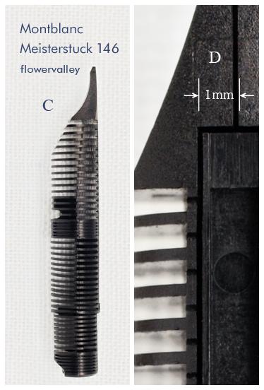 モンブラン146 ペン芯 横 ディテール