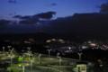 星取からみた稲佐山。自動車学校の光が邪魔。