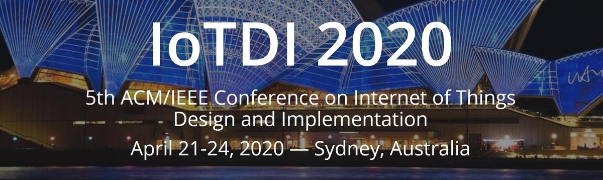 IoTDI2020に参加しました