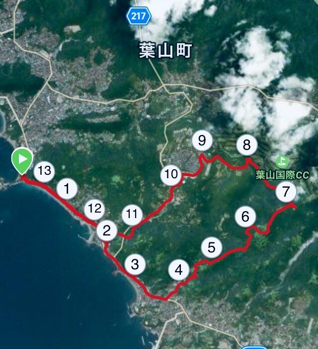 大楠山へのコースプロフィール地図