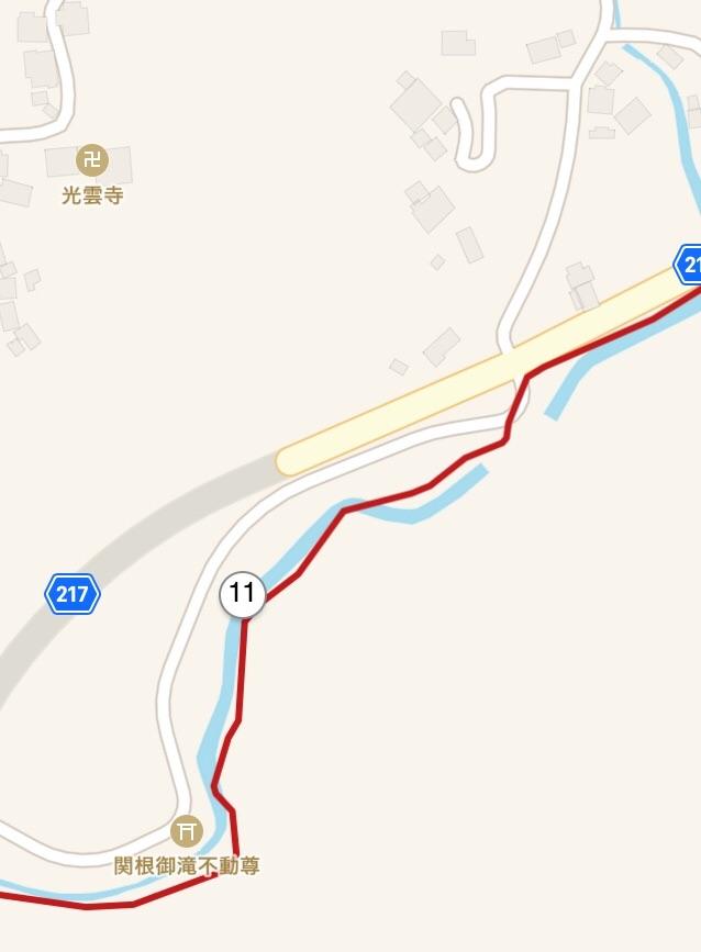 左折ポイントの拡大地図