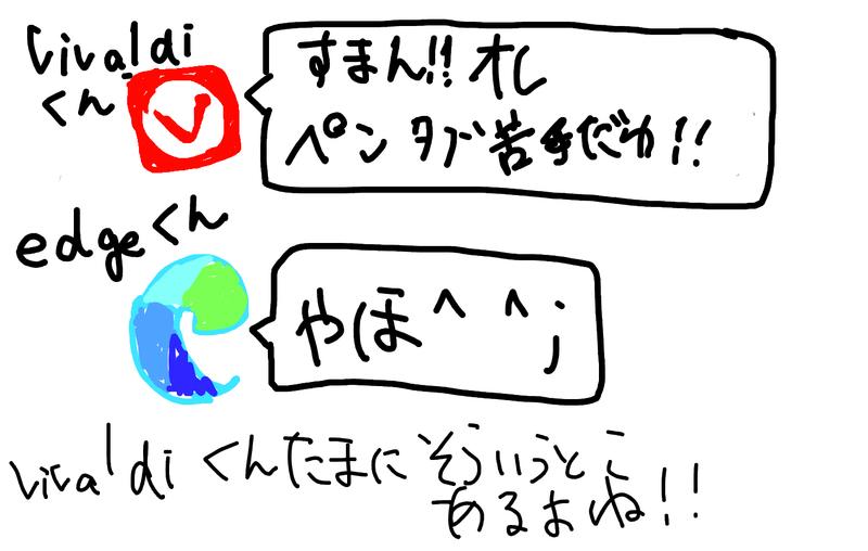 livaldi くん すまん!! ペン 「若女に!! edge ch やほ^^; Liraldiくんたまにそういうと、 あるよね!!
