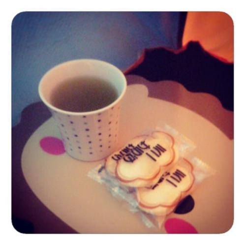 【緑茶&ミニサラダ】