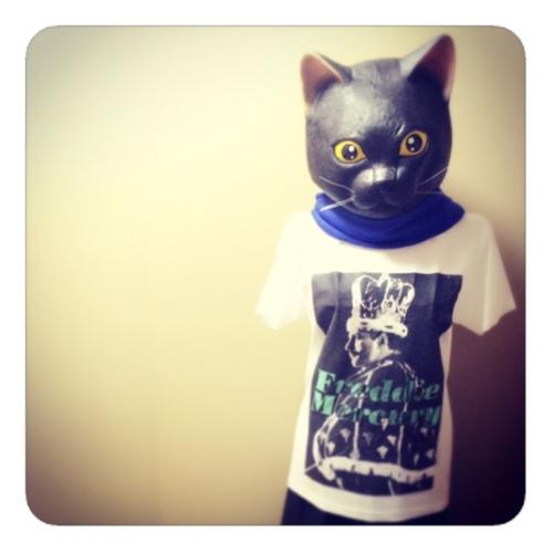 【ラバーマスク黒猫】
