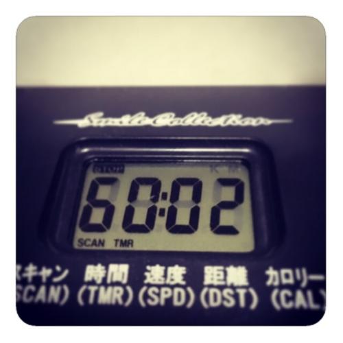 【エアロバイク60分】