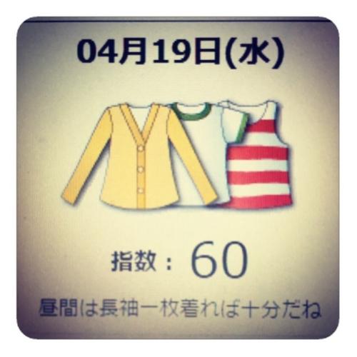 【服装指数】