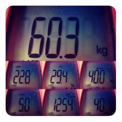 【今週の体重、60.3kg】