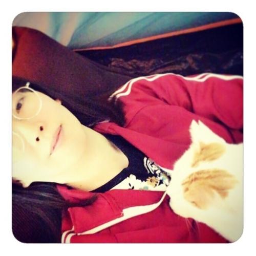 【私と猫】