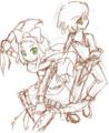 [ゲーム版権][TwinHearts(仮)]セブドラリナ+うちのリナ