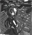 [TwinHearts(仮)][コラボレーション][超短編挿絵]振り向く少女